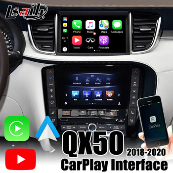 Lsailt Wireless CarPlay box for Infiniti QX50 QX80 QX60 2018-2020 Android Auto with Youtube ,video inputs for adding cameras image