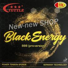 ITTF Tuttle Black Energy 888 Duitsland Cake Spons 40 + Tafeltennis rubber, ping pong rubber Gratis verzending