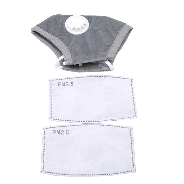 1PC Mouth Mask Anti Dust Mask Flu Face Masks Care Activated Carbon Filter Windproof Cotton PM2.5 Mouth-muffle Bacteria Proof 2