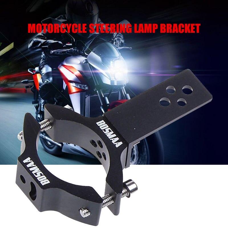 Black 72x128x22mm Bracket Motorcycle Headlight Bracket Strong Clamp Headlight Bracket Durable Turn Signal Light