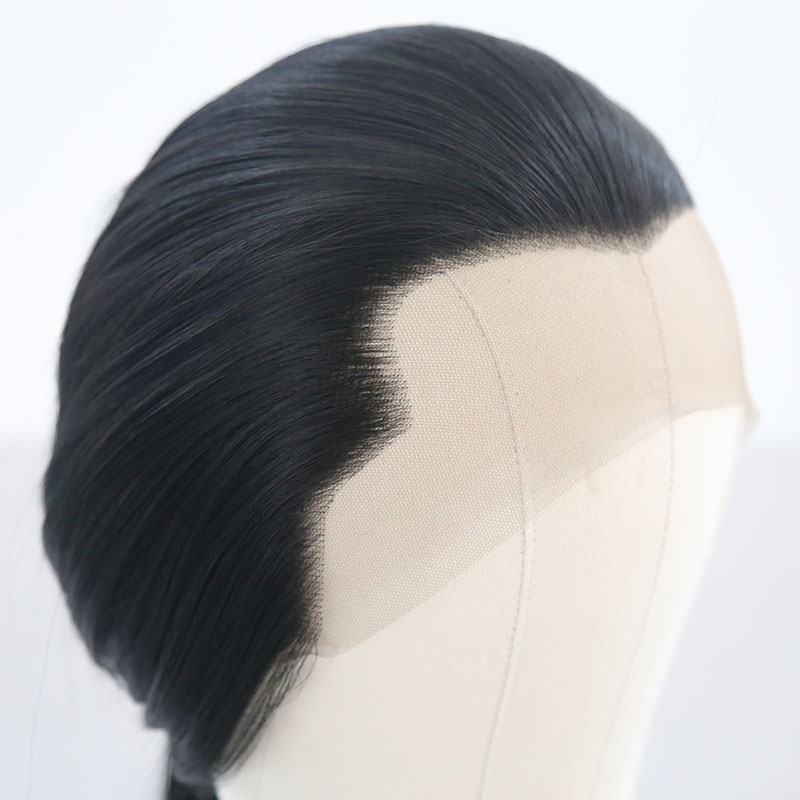 Aimeya parte livre perucas sintéticas longas retas