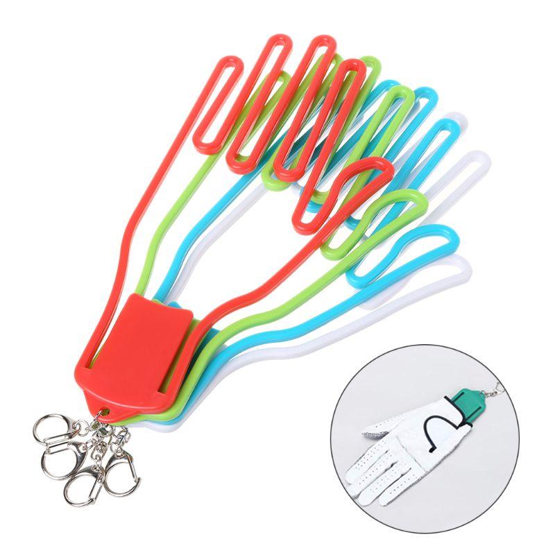 Golf Gloves Stretcher Golfer Tool Gear Plastic Rack Dryer Hanger With Keychain