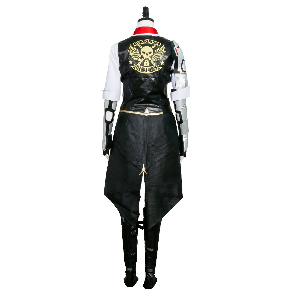 Hero Ashe Cosplay Costumes for Adult Women for Game Overwatch OW Elizabeth Caledonia Ashe Full Suit Halloween Cosplay Set 5