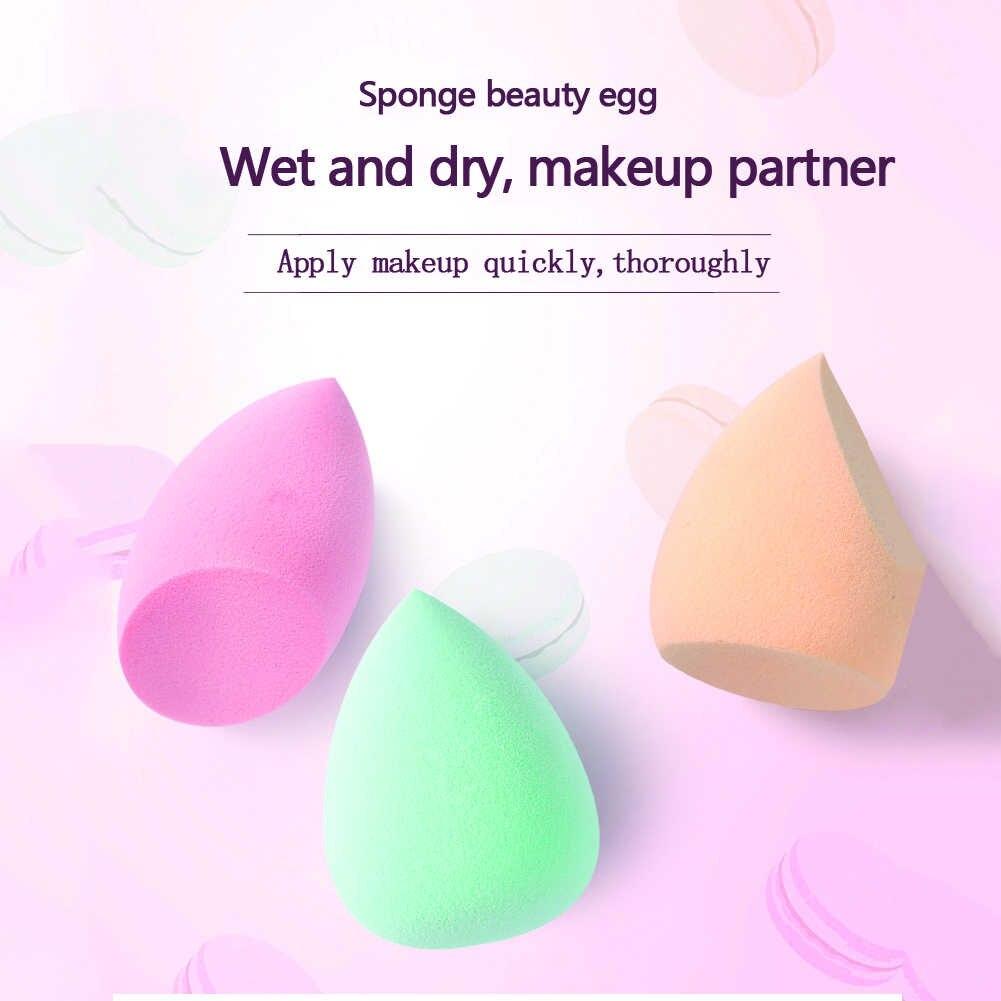 1 sztuk kosmetyczne Puff gąbka do makijażu mieszanie twarzy płyn makijaż puder do makijażu Puff kropla wody kształt ukośne cięcia gurda kształt