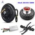 36В 48В 500 Вт моторное колесо для скутера электродвигатель для ступицы колеса наборы бесщеточный контроллер 8 дюймов  дроссель для электровел...