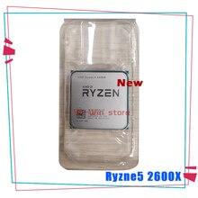 Novo amd ryzen 5 2600x r5 2600x 3.6 ghz seis núcleo processador cpu de doze linhas yd260xbcm6iaf soquete am4