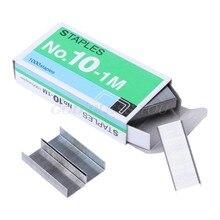 1000 pçs/caixa grampos de metal no.10 agrafador encadernação de escritório suprimentos escola estacionária transporte da gota
