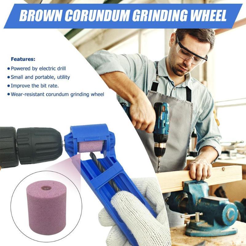 Corundum Wheel Portable Drill Bit Sharpener Wear Resisting Grinding Wheel