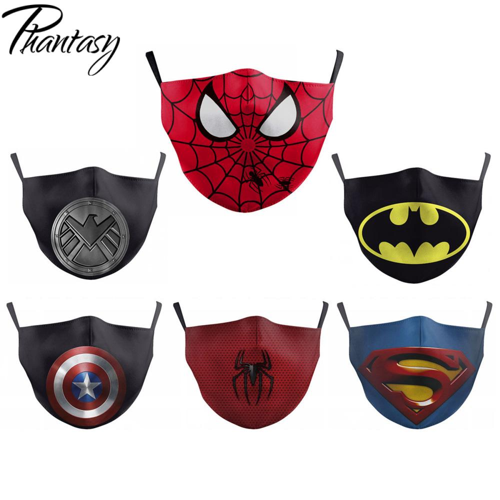 Phantasy Children Adult Dust-Proof Anti-fog Multicolor Face Mask Marvel Superhero Cosplay Protective Mask Mouth Cover Breathable