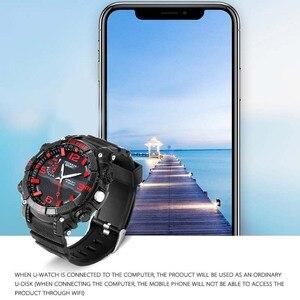 FOX11 u-disk zegarek bezprzewodowy smartwatch Ourdoor sport IP76 wodoodporny zegarek podłącz WIFI do oglądania plików zegarka na APP z LED L