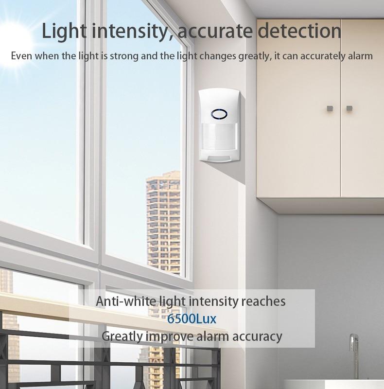 Smart Wifi Tuya APP PIR Motion Sensor with Intelligent Human Body Movement Recognition & Wide Range PET Proof Infrared Detector