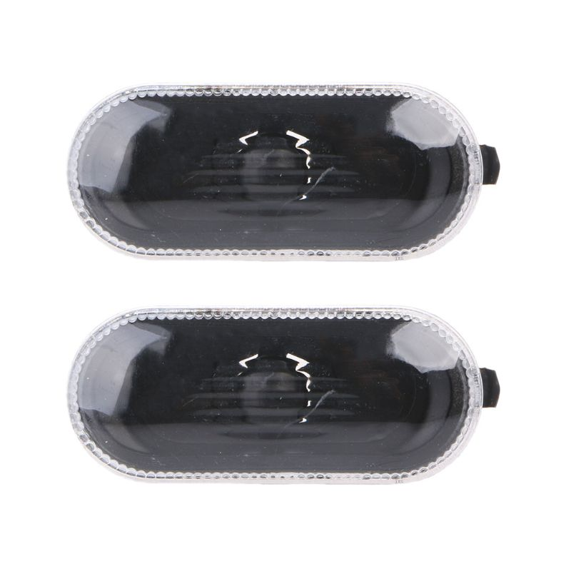 2 Pcs Free Side Marker Turn Light For  Para Golf /Bora MK4\B5\B5.5\R32 Indicator Beam Bulb Cover Plastic Metal Black