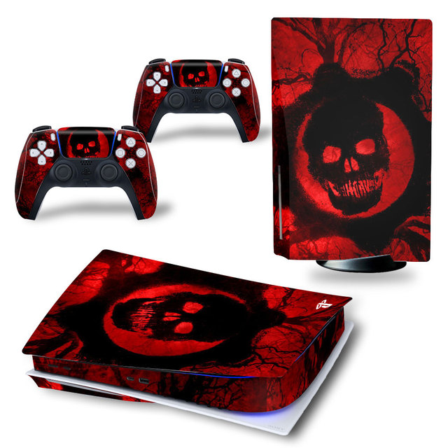 Angry Skull PS5 Standard Disc Edition Skin Sticker Decal Cover for PlayStation 5 Console & Controller PS5 Skin Sticker Vinyl