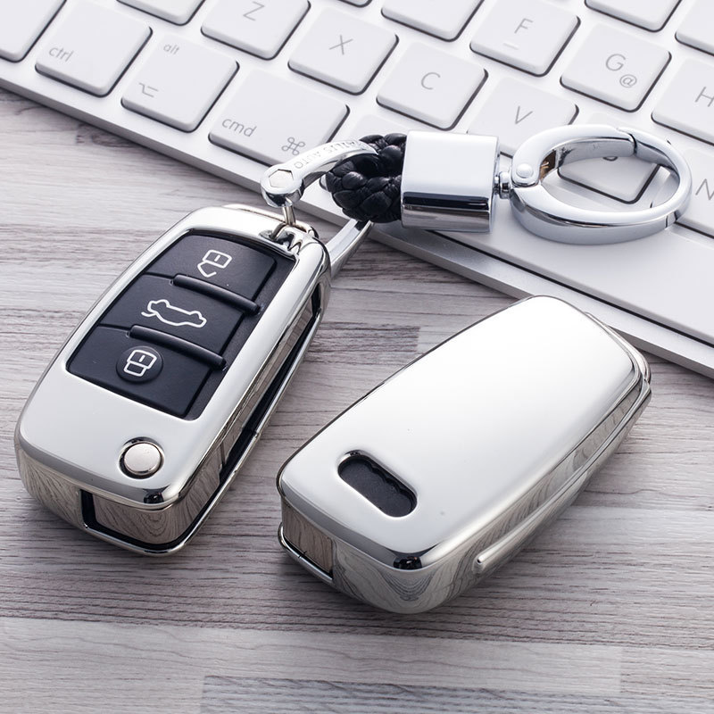 Auto Car Styling Soft TPU Key Case For Audi A1 A3 A4 A5 Q7 A6 C5