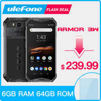 Ulefone Armor 3W Smartphone Robuste Android 9.0 IP68 5.7 Helio P70 6G + 64G 10300mAh Téléphone Portable 4G Double SIM Téléphone Portable Android