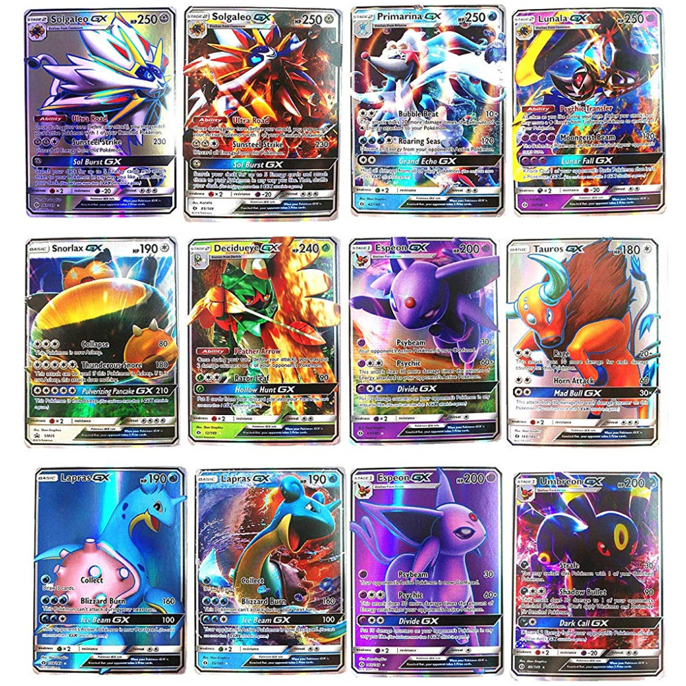200 Pcs TOMY POKEMONS GX MEGA Shining Cards Game Battle Carte Trading Cards Game Children Toy