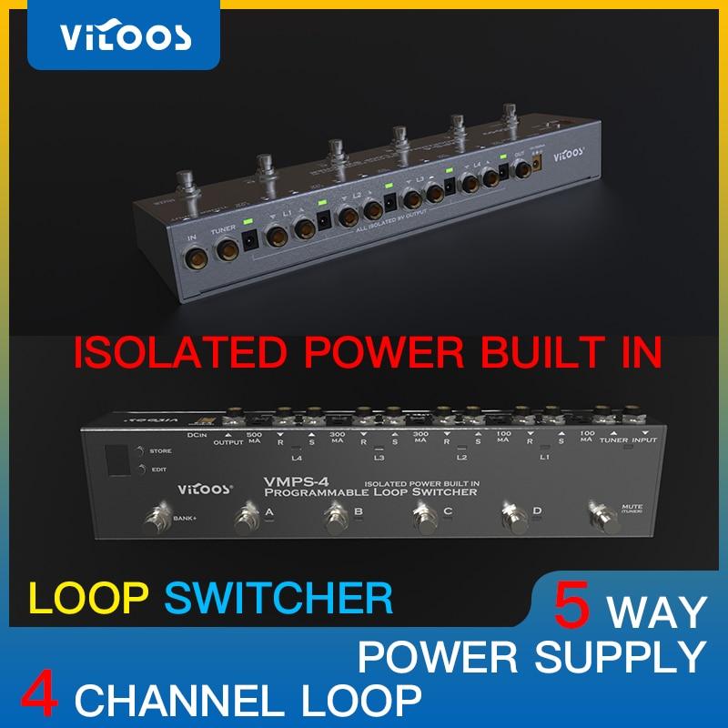 Vitoos loopswitcher изолированный источник питания встроенный Педальный канальный переключатель для гитары бас-эффект программы