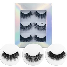 3 pairs of 20mm water eyelashes 18mm long thick false