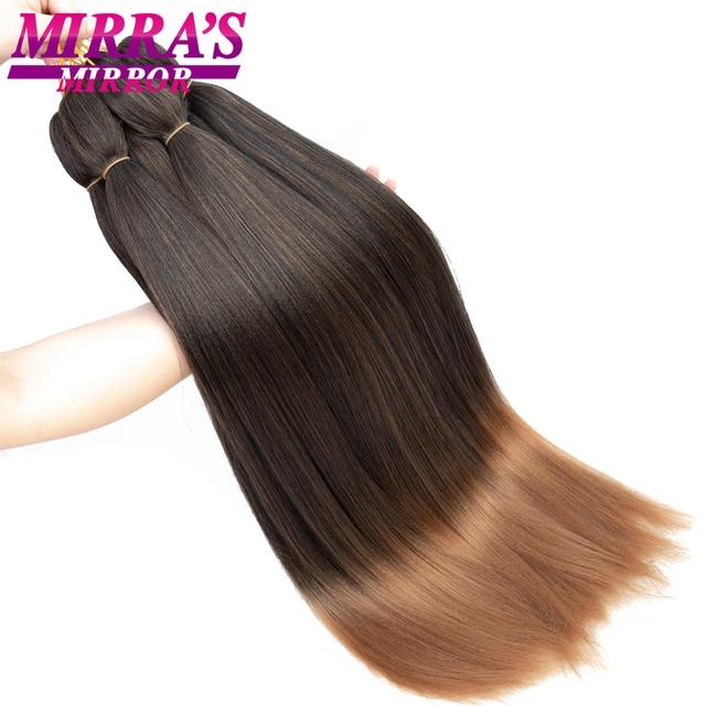"Mirra der Spiegel Jumbo Zöpfe Haar 20 ""26"" T1B/Braun Synthetische Flechten Haar Ombre Häkeln Zöpfe Pre gestreckt Haar Extensions"
