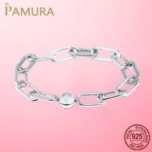 Pulseira de prata 925 prata esterlina original me pulseira ajuste marca me infinito nó corrente pulseira femme jóias para presente feminino