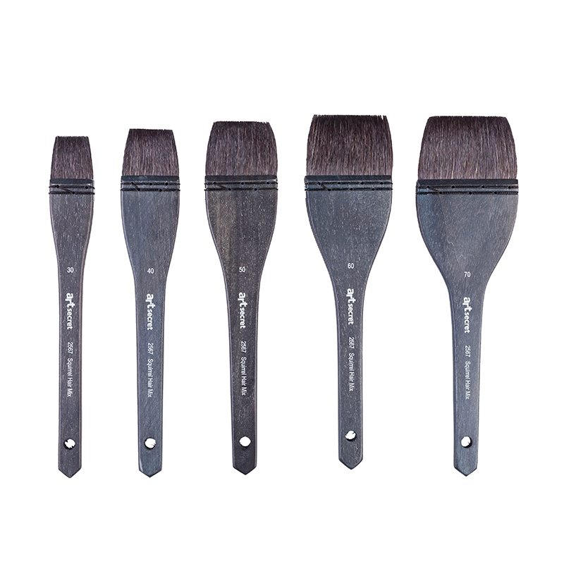 1PC 2567hiqh Quality  Squirrel Hair Mix Wooden Handle Watercolor Art Paint Brush