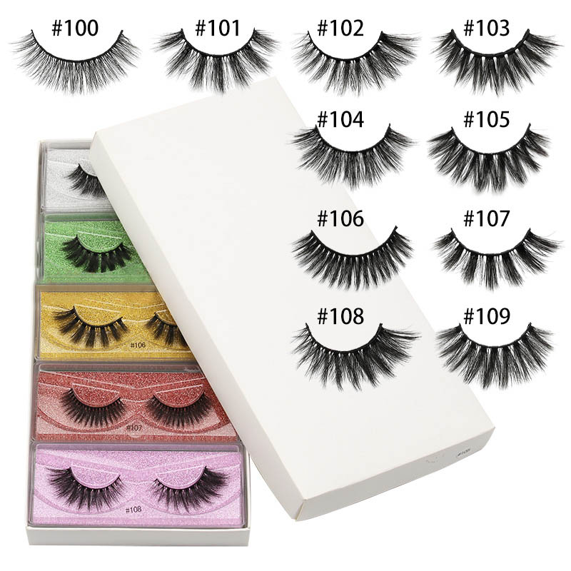 Wholesale 3d Mink False <font><b>Eyelashes</b></font> <font><b>10</b></font>/20/30/50/100 <font><b>Pairs</b></font> Fluffy Wispy Fake Lashes Natural Long Makeup Lash Extension In Bulk image