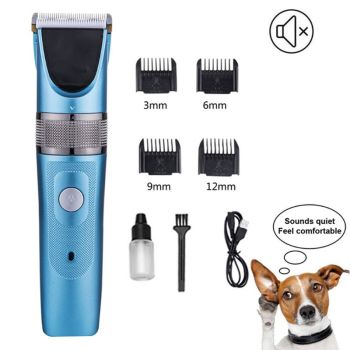 Dog Clippers Cordless Dog Grooming Clippers Kit Rechargeable Quiet Pet Hair Clippers Trimmer with 7 Dog Grooming Tools professional dog hair clippers grooming kit low noise rechargeable cordless dog cat pet electric hair clipper​ trimmer 100v 240v