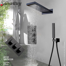 Waterfall Shower Faucet Thermostatic-Shower Wall-Mounted Syste Hot-And-Cold-Mixing-Valve