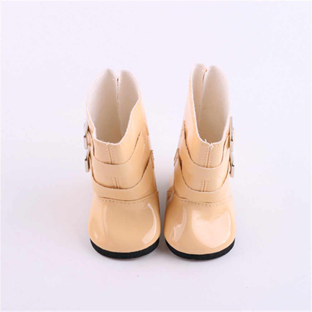 18 обувь для маленькой куклы американская и BJD девочка детская игрушка Яркие Кожаные Сапоги красочная обувь 7 см для 43 см кукла аксессуары кукла обувь