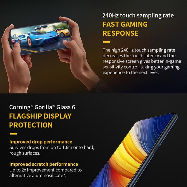 POCO X3 Pro Global Version 6GB+128GB Xiaomi Smartphone Snapdragon 860 120Hz DotDisplay 5160mAh 33W Charge Quad AI Camera 4