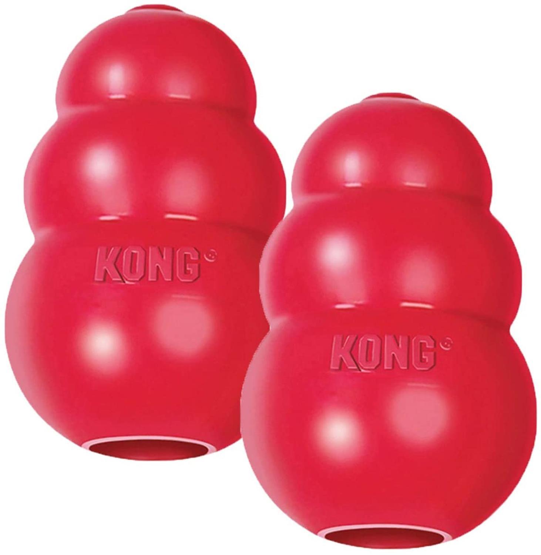 Игрушка-воблер KONG All series и все размеры для щенков, игрушка для собак и кошек из прочного натурального каучука, веселая жевательная игрушка дл...