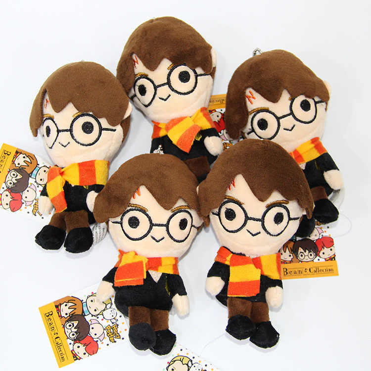 Nova Marca Harri Potter Hermione Ron Pelúcia Macia Stuffed Boneca de Pelúcia Saco Chaveiro Pingente Figura Dos Desenhos Animados Presente Das Crianças Do Miúdo brinquedo