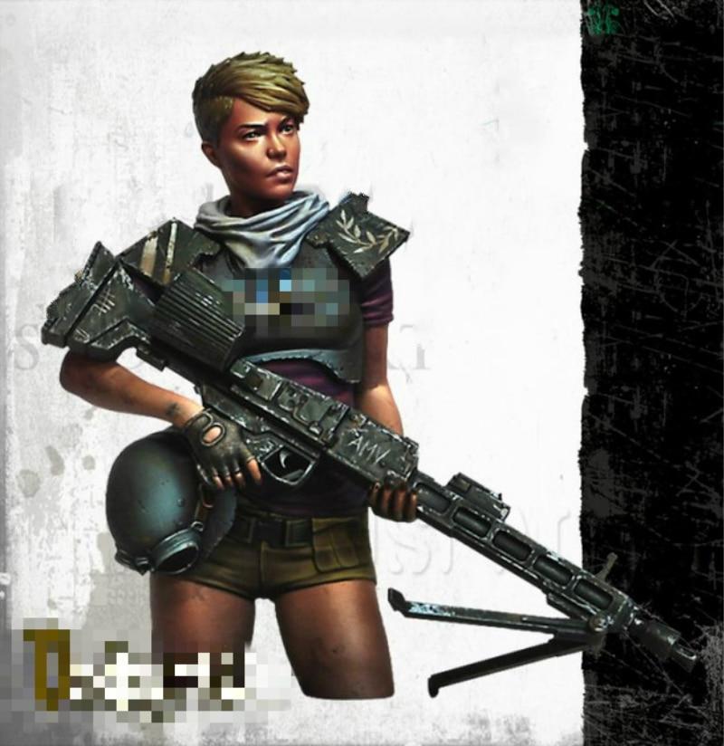 1:12 Resin Bust Model Kit Female Warrior Unpainted 374D