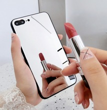 Star Makeup Mirror Glass NEW Fashion Girl Cases For Apple iPhone XR X XS Max 6 6S 7 8 Plus Cute