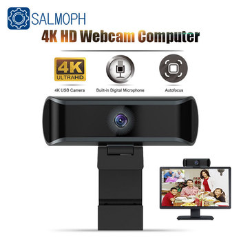 4K HD Webcam 1080P Auto/Manual Focus Web Camera With Microphone  Live Video Conference Work USB Cam For PC Laptop Computer