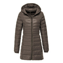 SONDR New Bang 7XL Plus Long Down Jacket Women Winter Ultra Light Down Jacket Women With Hooded Down Coat Female Big Size Coats(China)