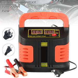 Full Automatic Car Battery Charger 350W 12V/24V 35Ah-200Ah 14A Adjust LCD Fast Power Charging for Motorcycle Auto Power Supply(China)