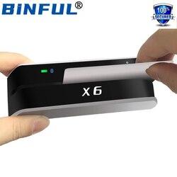 1 Набор BINFUL Bluetooth USB 3 трека msr X6(BT) VIP Кардридер писатель кодировщик Мини Портативный