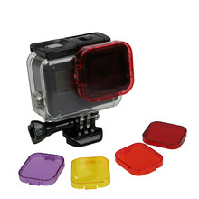 For Gopro 5 6 7 Accessories Diving Filter Original Waterproof Case Dive Filtors for Go Pro Hero Black