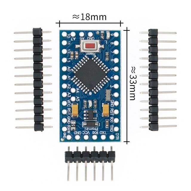 Freies Verschiffen! Neue version! 50 teile/los ATMEGA328P Pro Mini 328 Mini ATMEGA328 5 V/16 MHz