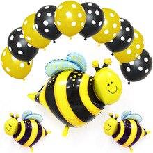 Birthday Decorations Bee Ladybug Balloons Jungle Party Birthday Party Decorations Kids Latex  Aluminum Foil Balloon Baloons светильник без эпра arte lamp ornament a3320pl 1cc d 25 см e27