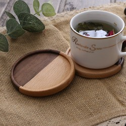 Wood Coasters Tea Coffee Cup Pads Placemats Decor Durable Heat Resistant Square Round Drink Mat Coaster Home Decor