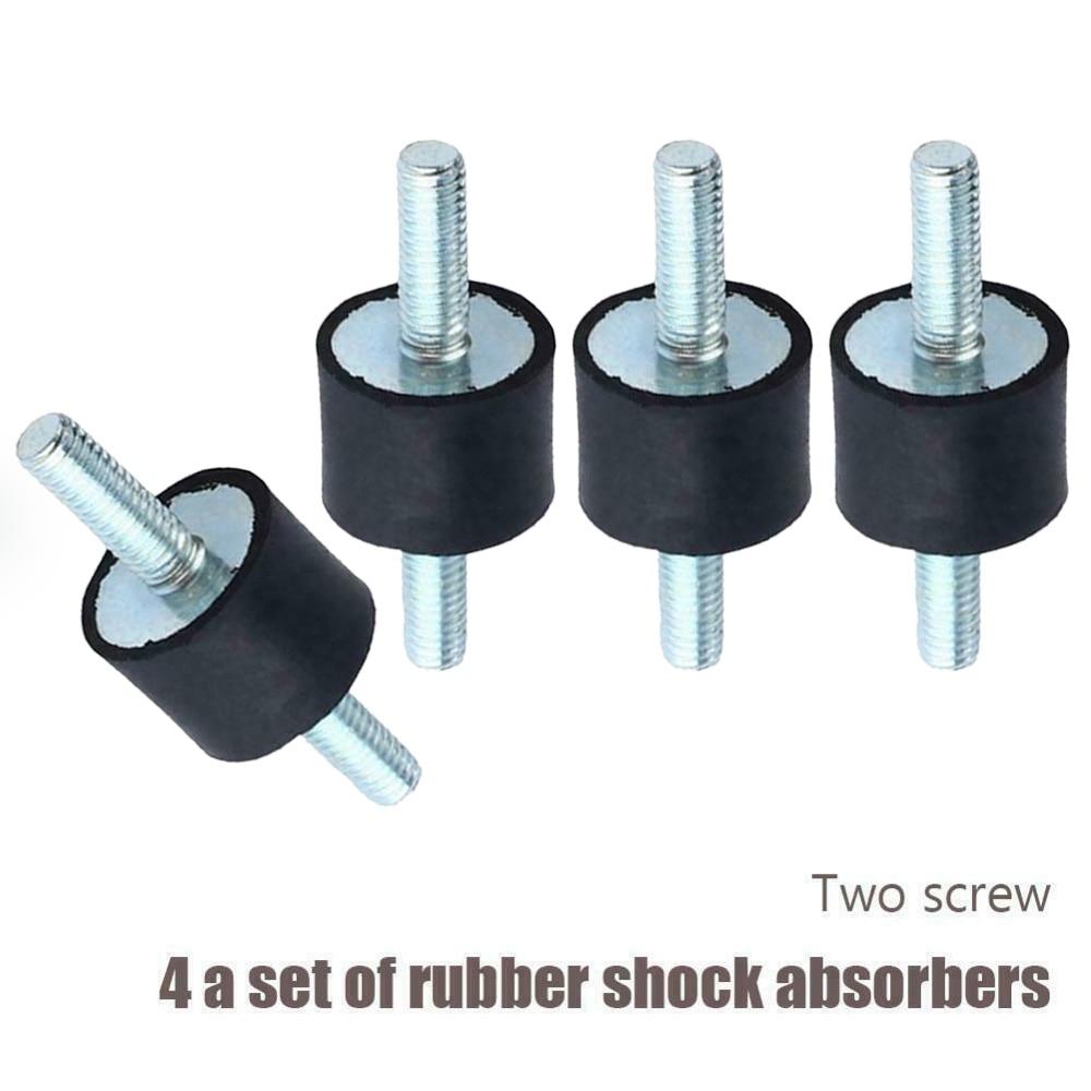 4 Pc M6 protección de golpes de goma absorbente Anti Vibración bobina aislante bobinas de bloque silencioso