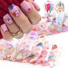 10 шт украшения для ногтей mix Красочные наклейками которые