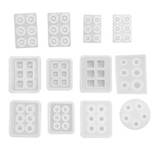 12 Pieces of Crystal Beads Beads DIY Jewelry Ice Tray Model Resin Silicone Mold Gem Jewelry Production(China)