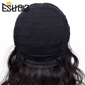 """Image 5 - Peruvian Body Wave Lace Human Hair Wigs Remy 4x4 Closure Wig 8"""" 24"""" Natural Color Lace Closure Human Hair Wigs 150% Density"""
