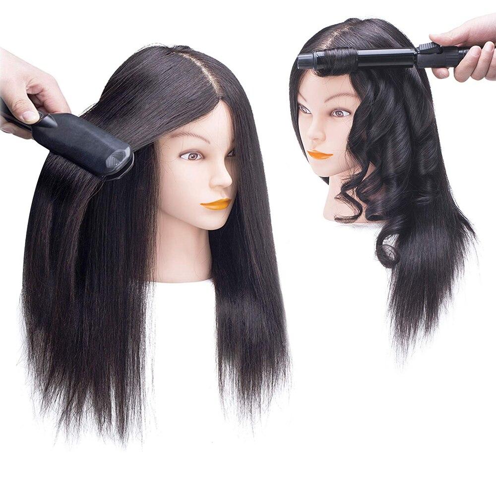 Голова манекена с волосами для тренировок по оплетке и стрижке, 100% натуральные человеческие волосы, тренировочные манекены, головки для пар...