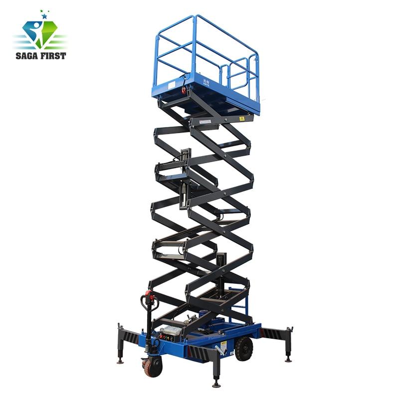 European Quality 6m 4 Wheel Electric Hydraulic Mobile Scissor Lift Extendable Platform