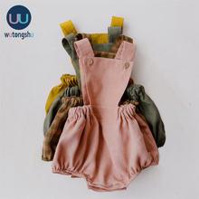 Комбинезоны для маленьких мальчиков; Летняя хлопковая одежда