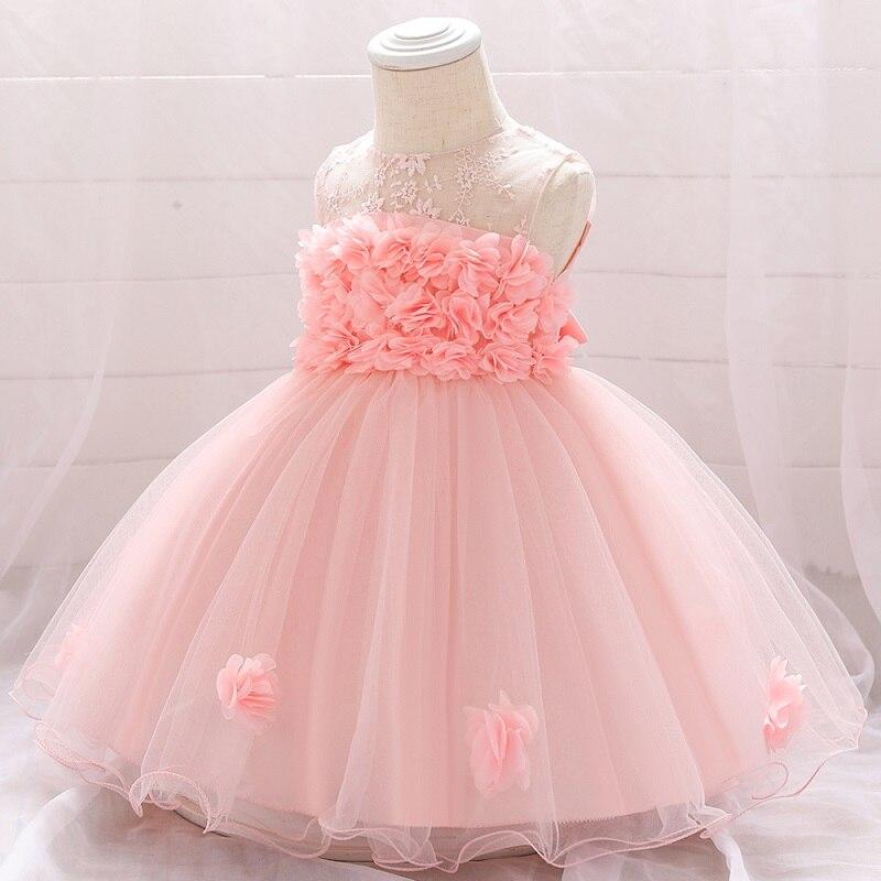 Платье для маленьких девочек с вышивкой и бантом 0-от 24 мес. до 1 лет; Одежда для маленьких девочек платье для девочек на день рождения для мал...